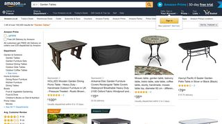 Amazon Garden Tables