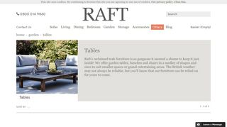 Raft Garden Tables