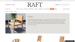 Raft Garden Chairs