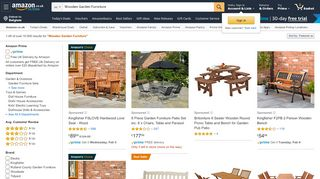 Amazon's Wood Garden Furniture